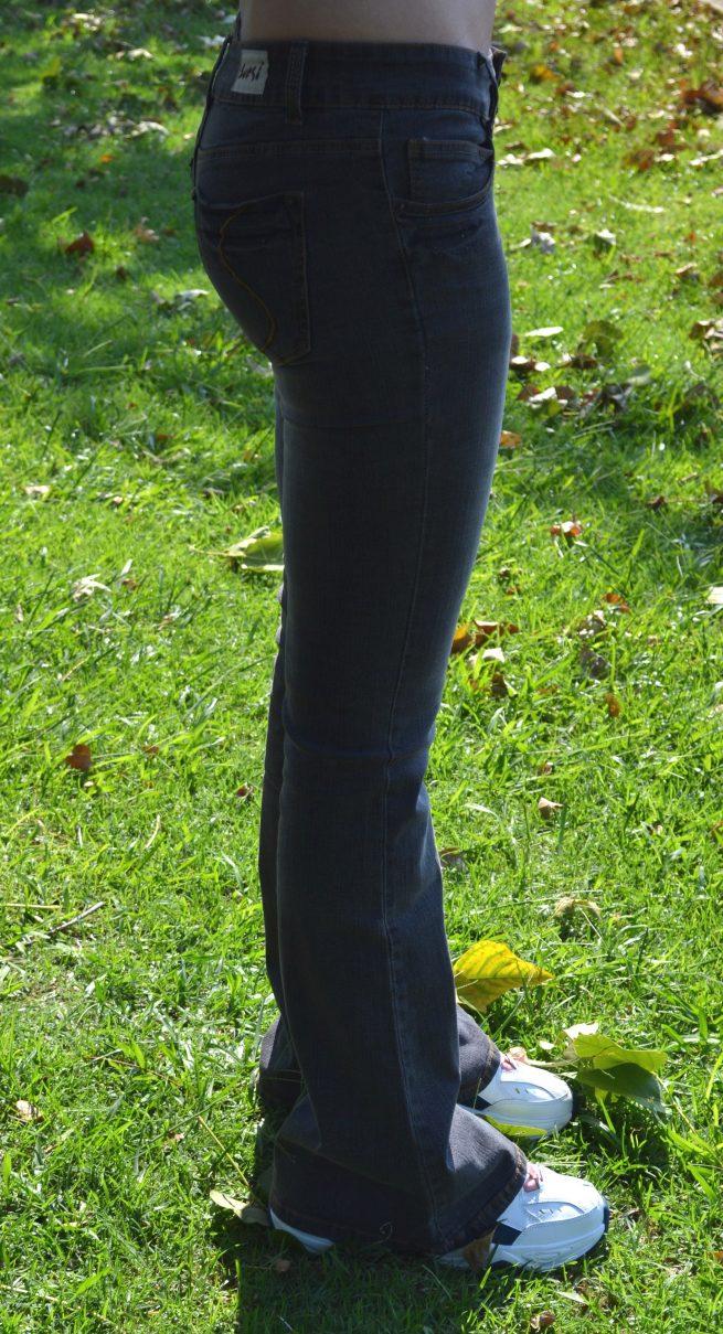 Hipster stretch flares side
