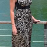 Adjustable Strap Tan/Black Leopard Print Maxi Dress