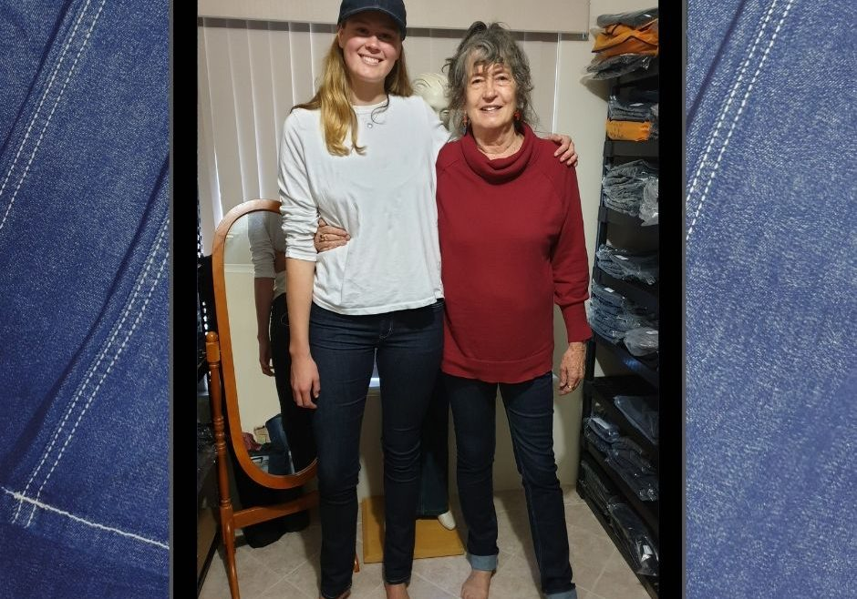 Grandma Sue 6ft 3in and Lily 6ft 5in